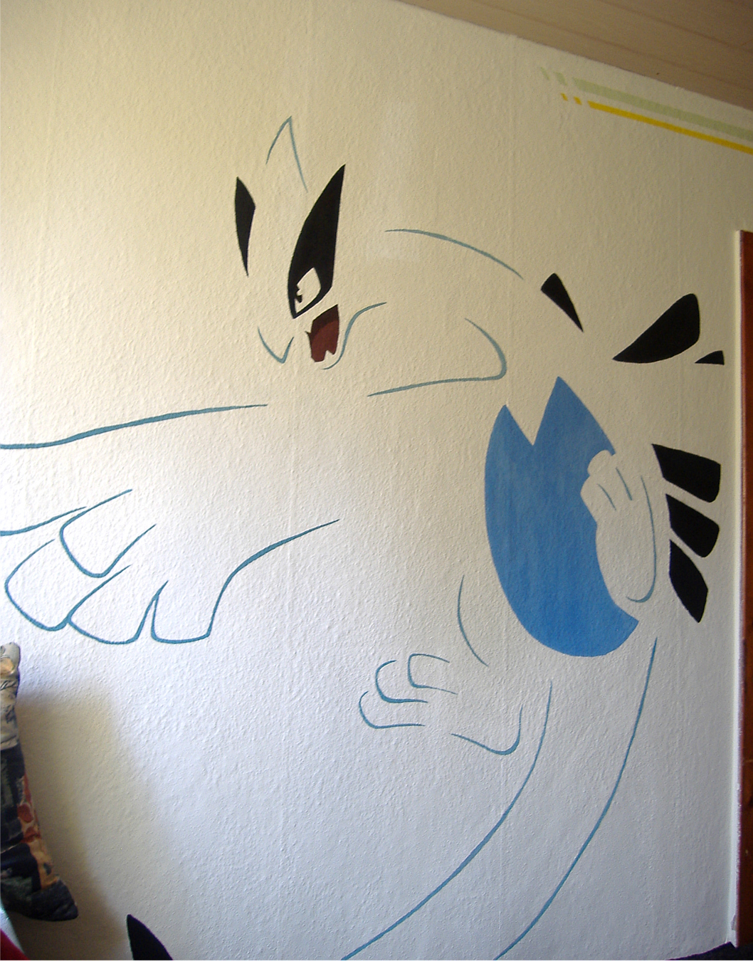 Pokémon-Fanart: Lugia-Wandmalerei