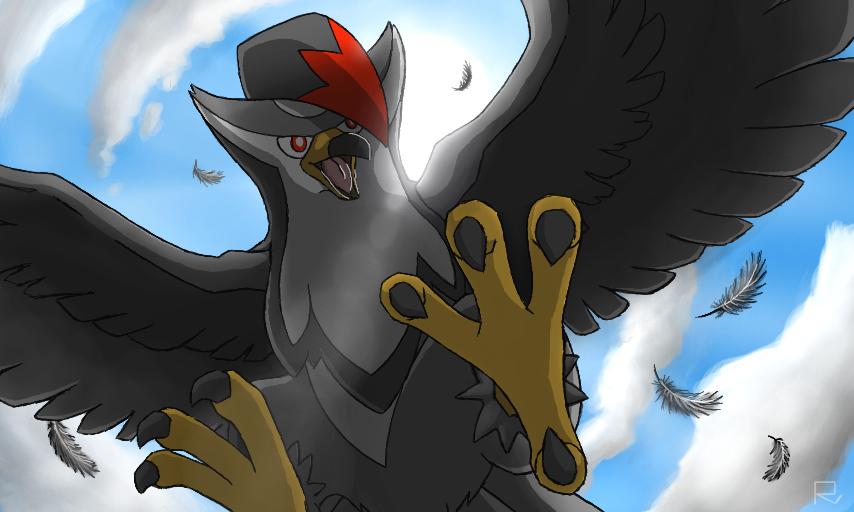 Pokémon-Zeichnung: Angreifer aus der Luft