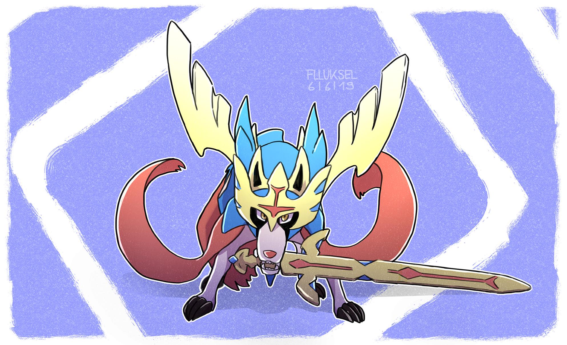 Pokémon-Zeichnung: Zacian