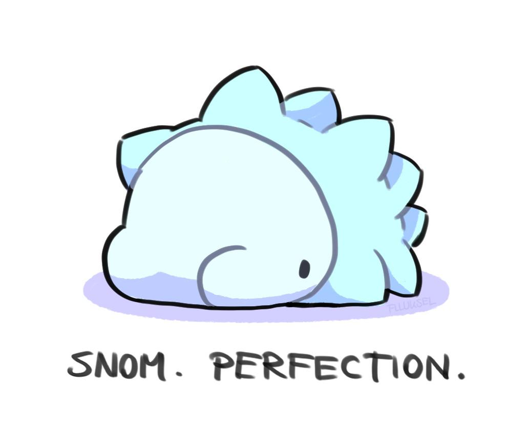 Pokémon-Zeichnung: Snomnom.