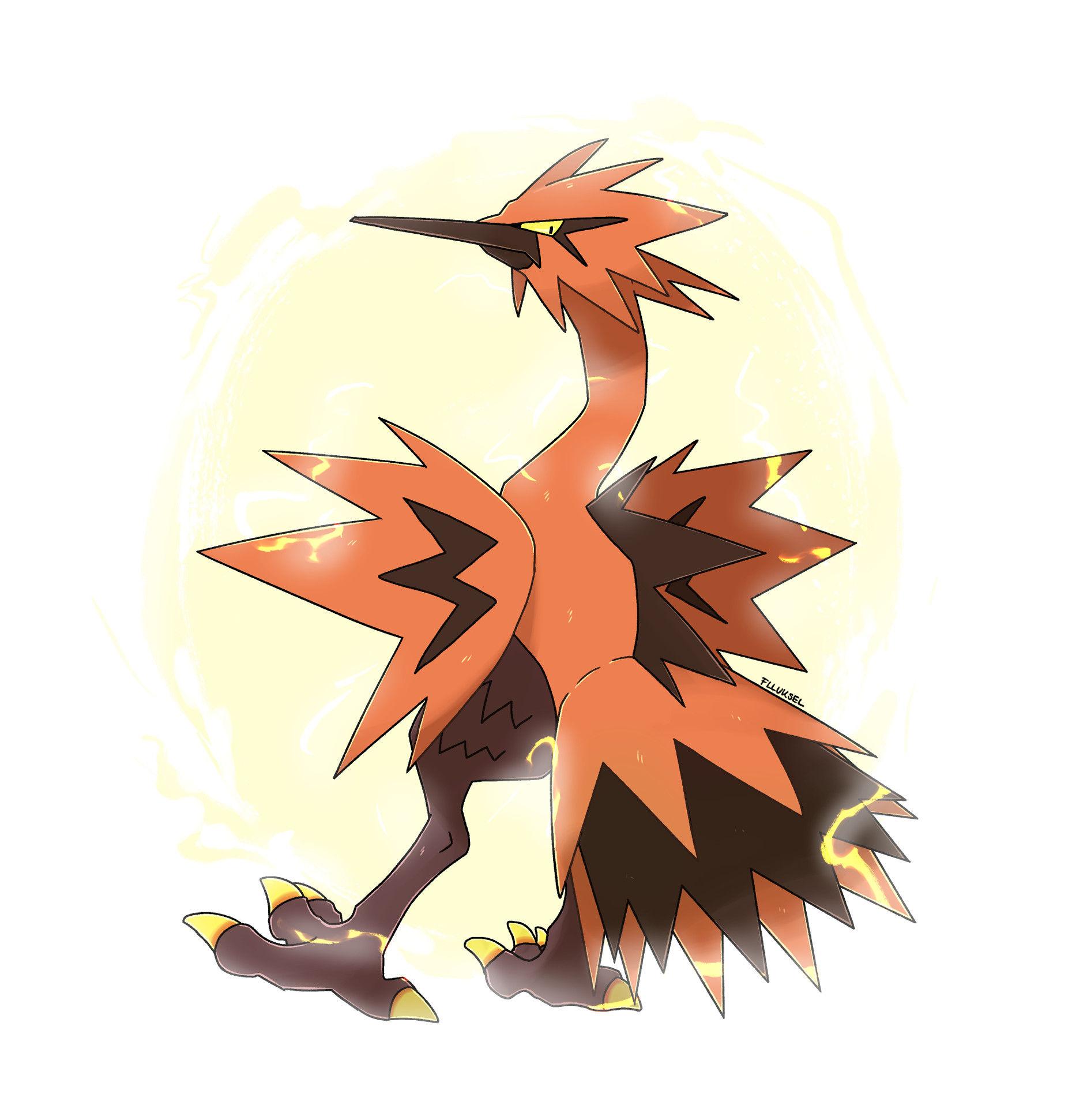Pokémon-Zeichnung: Galar Zapdos
