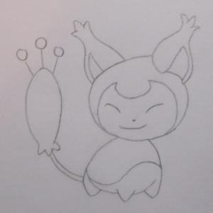 Pokémon-Zeichnung: Zeichnung von Eneco