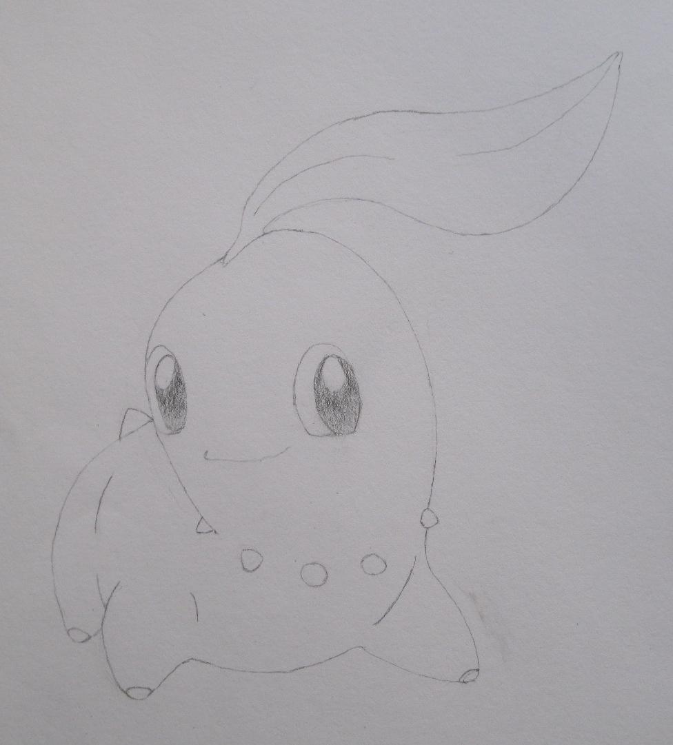 Pokémon-Zeichnung: Zeichnung von Endivie