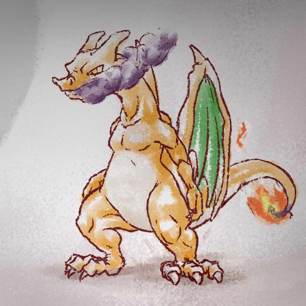 Pokémon-Zeichnung: Warmatmiger Kaltblüter
