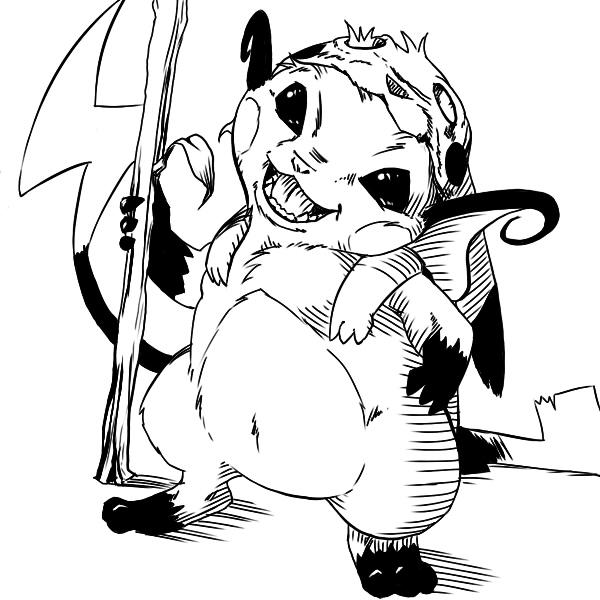 Pokémon-Zeichnung: Chu