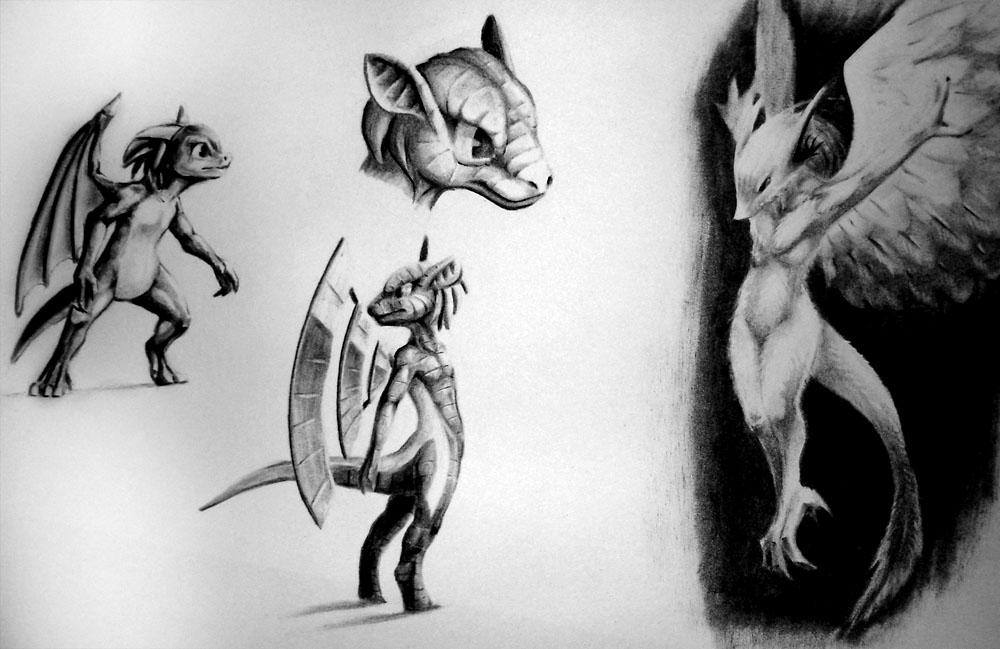 Pokémon-Zeichnung: Vögel