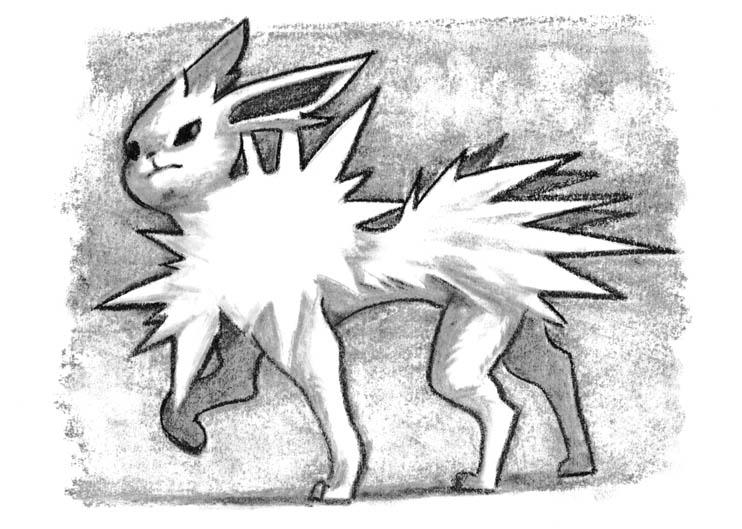 Pokémon-Zeichnung: Himmelgrau