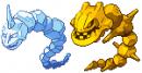 Kristall Onix und Gold Stahlos