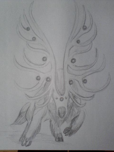Pokémon-Zeichnung: Damhirplex Evo