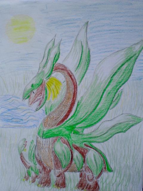 Pokémon-Zeichnung: Tropius Evo
