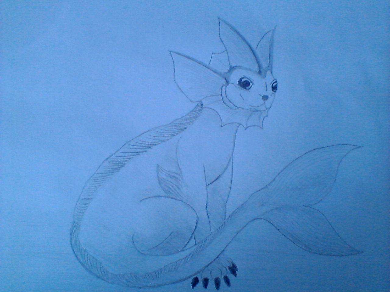 Pokémon-Zeichnung: Aquana