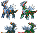 Schatten-Dialga Normal + Shiny