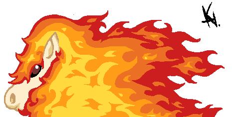 Pokémon-Zeichnung: ponita/galoppa