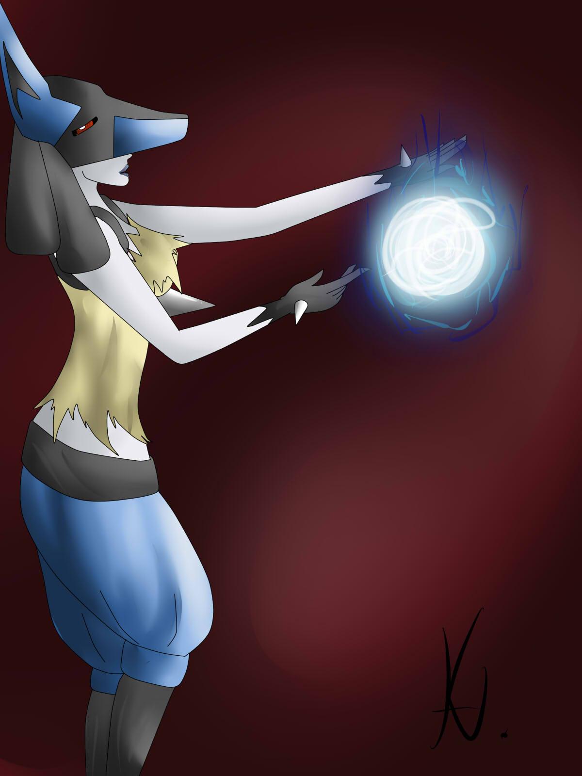 Pokémon-Zeichnung: Lucario