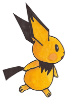 Pokémon-Zeichnung: Pichu