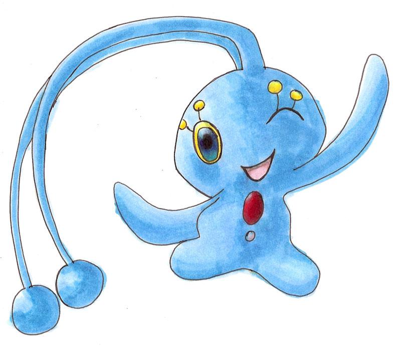 Pokémon-Zeichnung: Manaphy