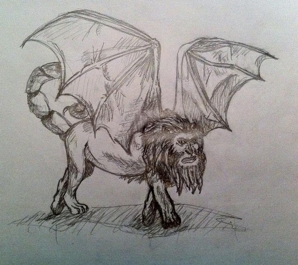 Pokémon-Zeichnung: Mantikor