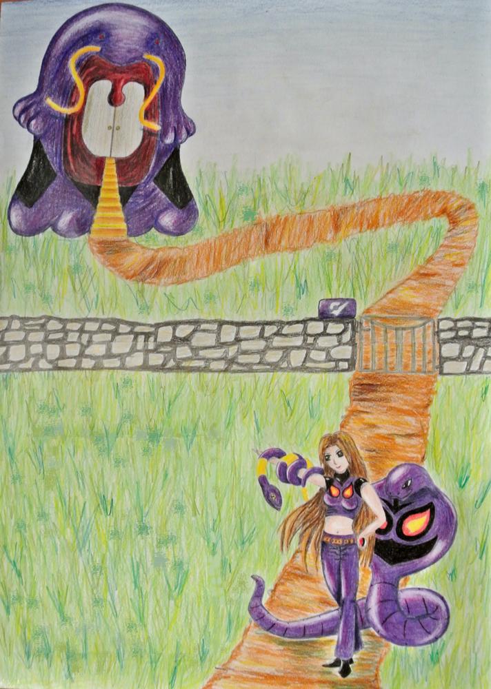 Pokémon-Zeichnung: Arenaleiterin Gift