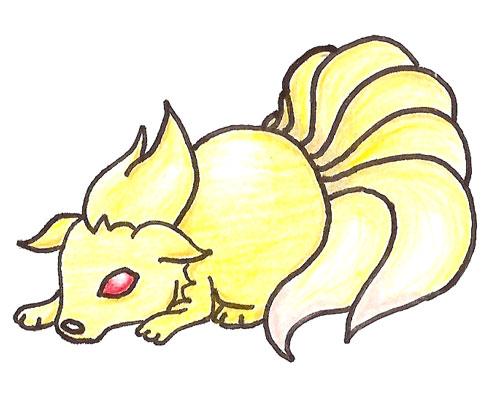 Pokémon-Zeichnung: Vulnona