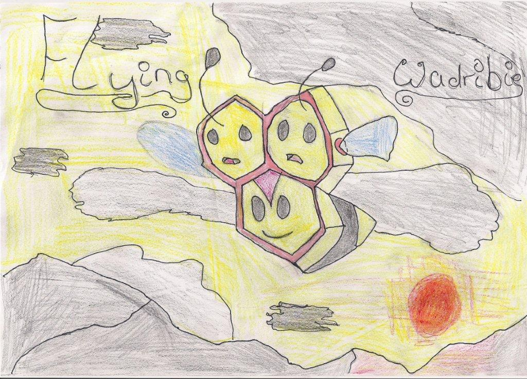 Pokémon-Zeichnung: Flying Wadribie