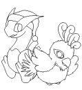 Baby Ho-oh und Lugia - Outlines