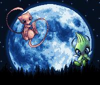 Pokémon-Pixelart: Mew Moon