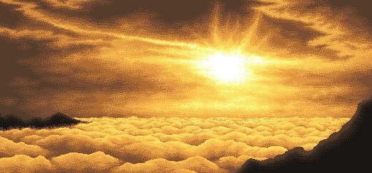 Pokémon-Pixelart: Sonnenuntergang