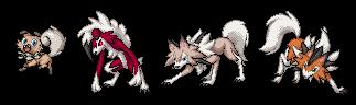 Pokémon-Pixelart: Wuffels & Wolwerock