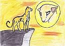 Löwe ohne Mähne oder Gepard ohne Punkte :P