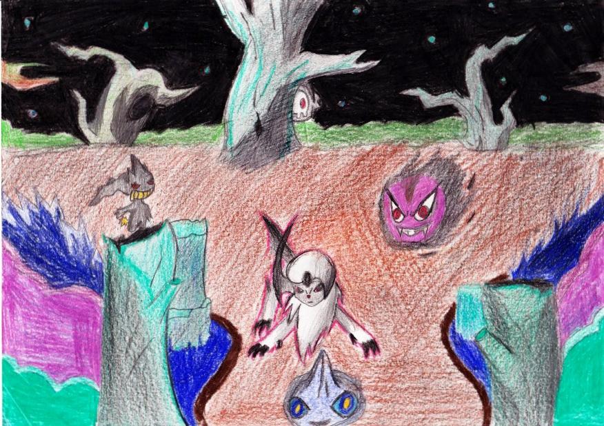 Pokémon-Zeichnung: Finsterkamm