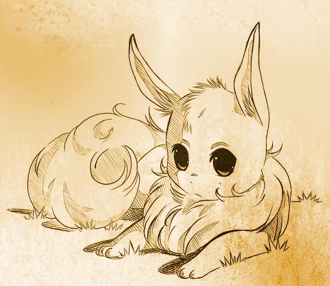 Pokémon-Zeichnung: Evoli scribble plz