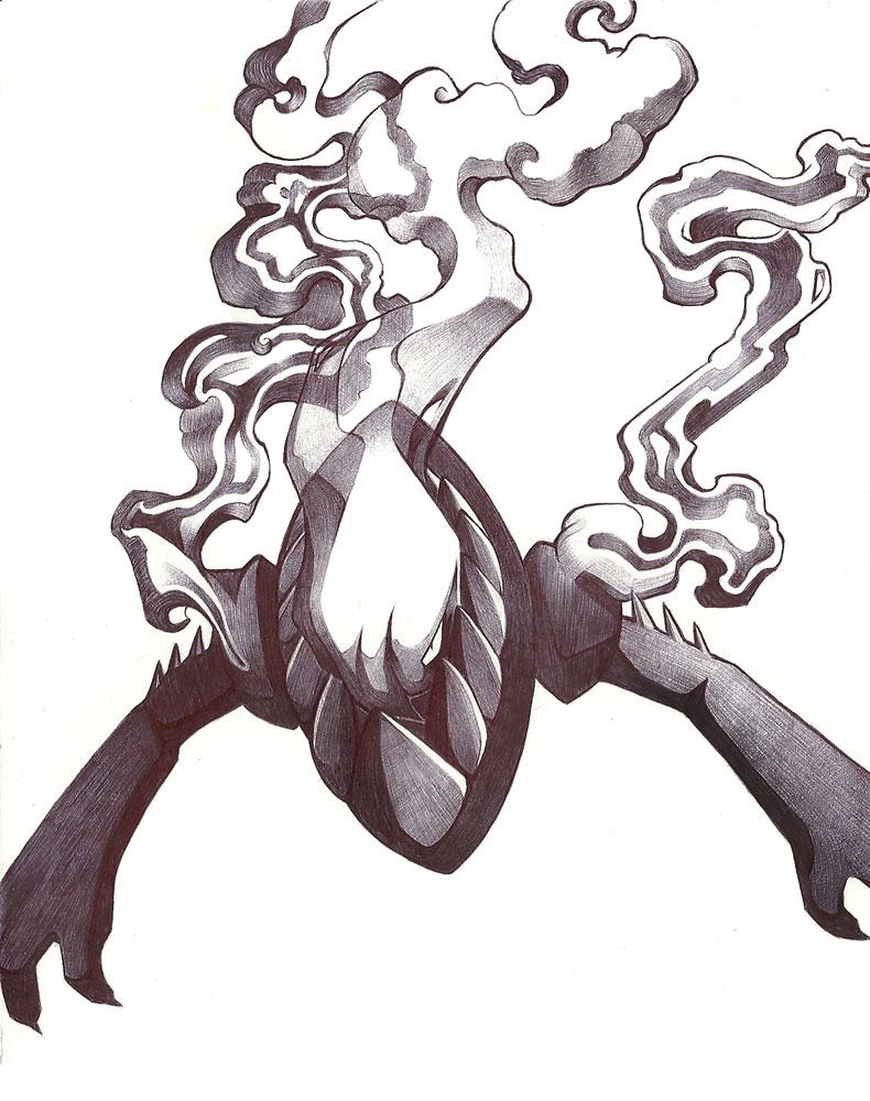 Pokémon-Zeichnung: kuli darkrai :I