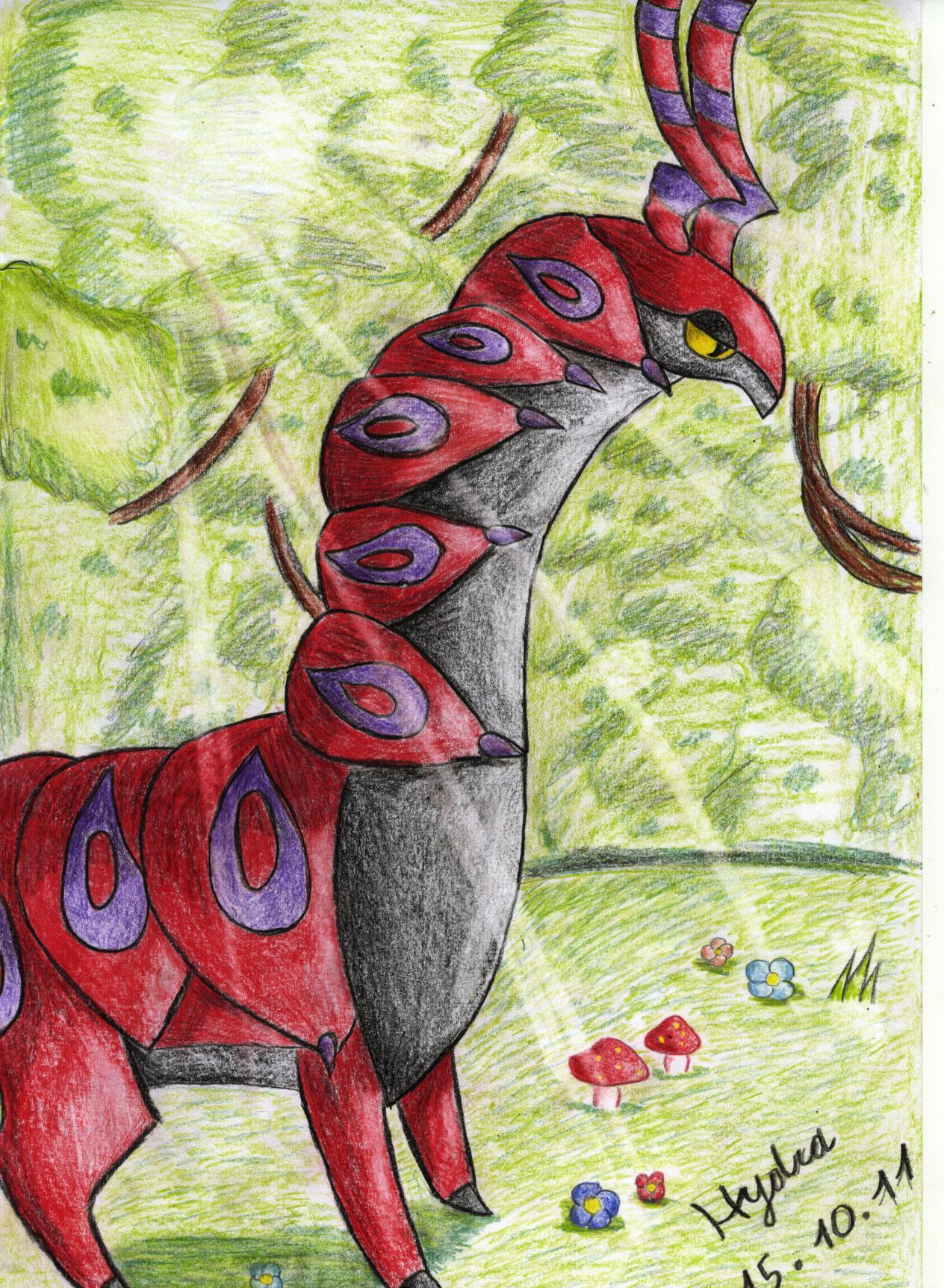 Pokémon-Zeichnung: Cerapendra