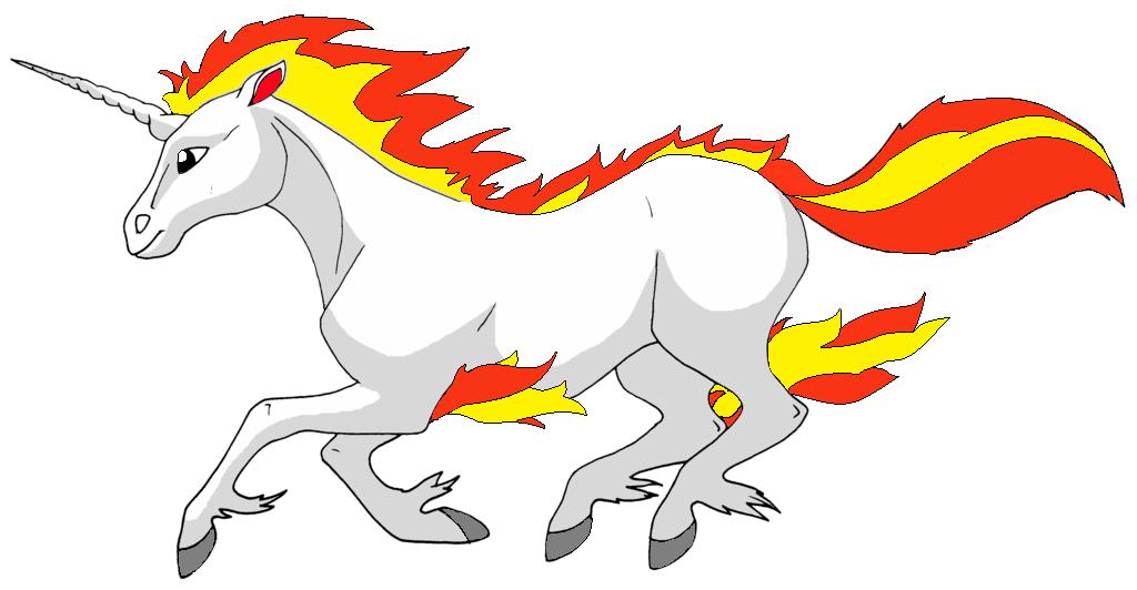 Zeichnung: galoppierendes Galoppa (Pokémon-Fanart)
