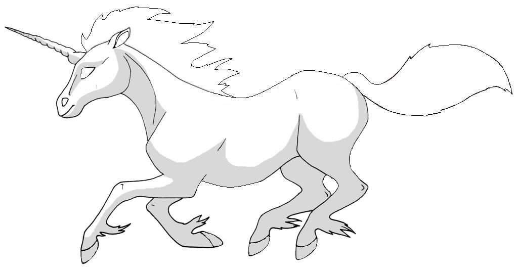 Pokémon-Zeichnung: galoppa outlines