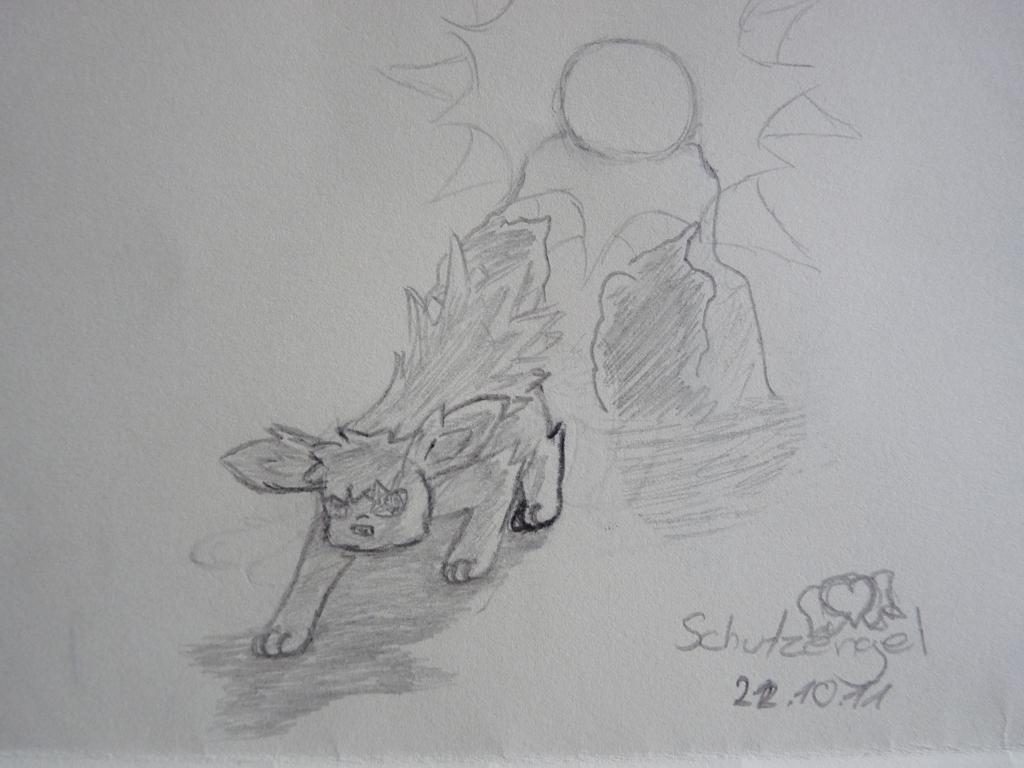 Pokémon-Zeichnung: Skizze Blitza