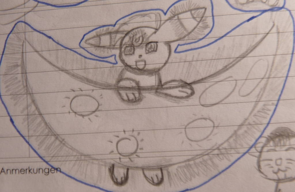 Pokémon-Zeichnung: Skizze Nachtara