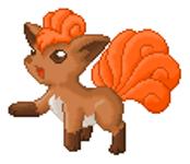 Pokémon-Pixelart: Vulpix colo