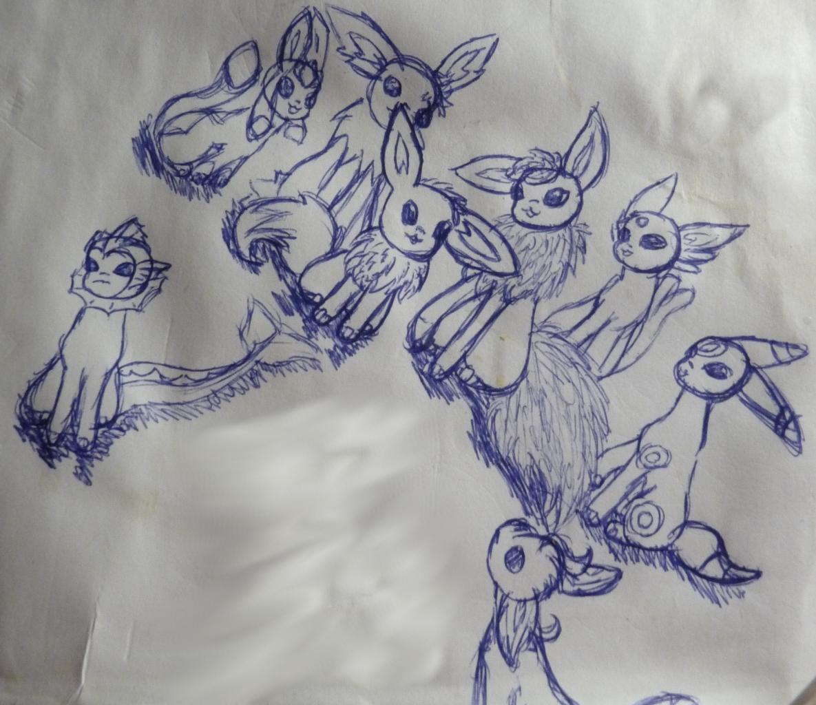 Pokémon-Zeichnung: Happy Eeveeyear