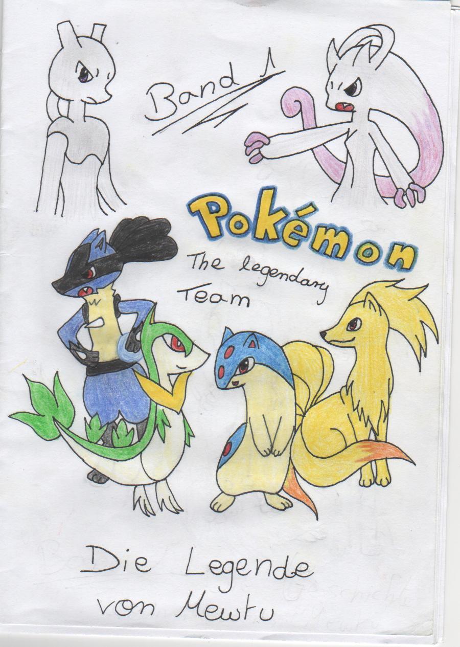 Pokémon-Zeichnung: Pokémon-The legendary Team: Die Legende von Mewtu