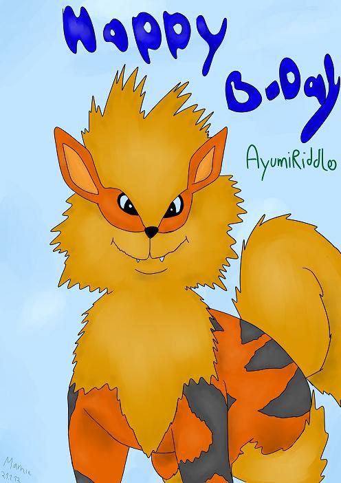 Pokémon-Zeichnung: Happy Birthday AyumiRiddle