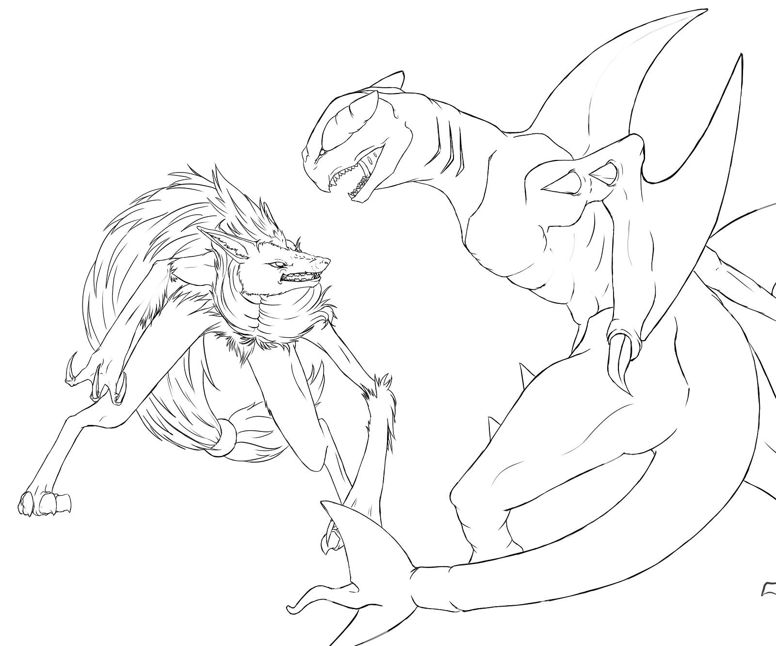 Pokémon-Zeichnung: tut schritt 3 outline