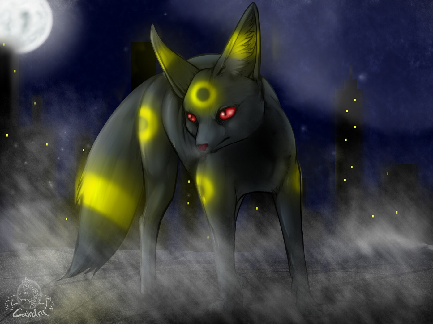 Zeichnung Umbreon Pokémon Fanart