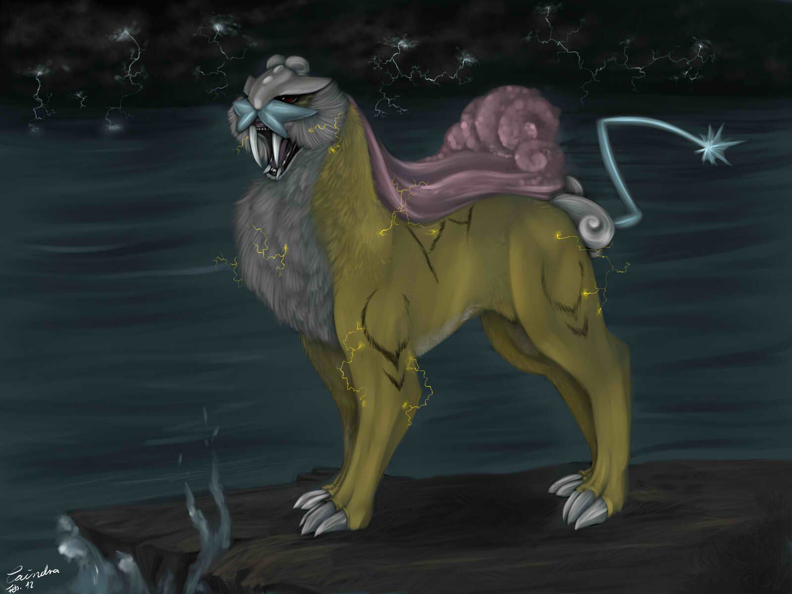 Pokémon-Zeichnung: raikou