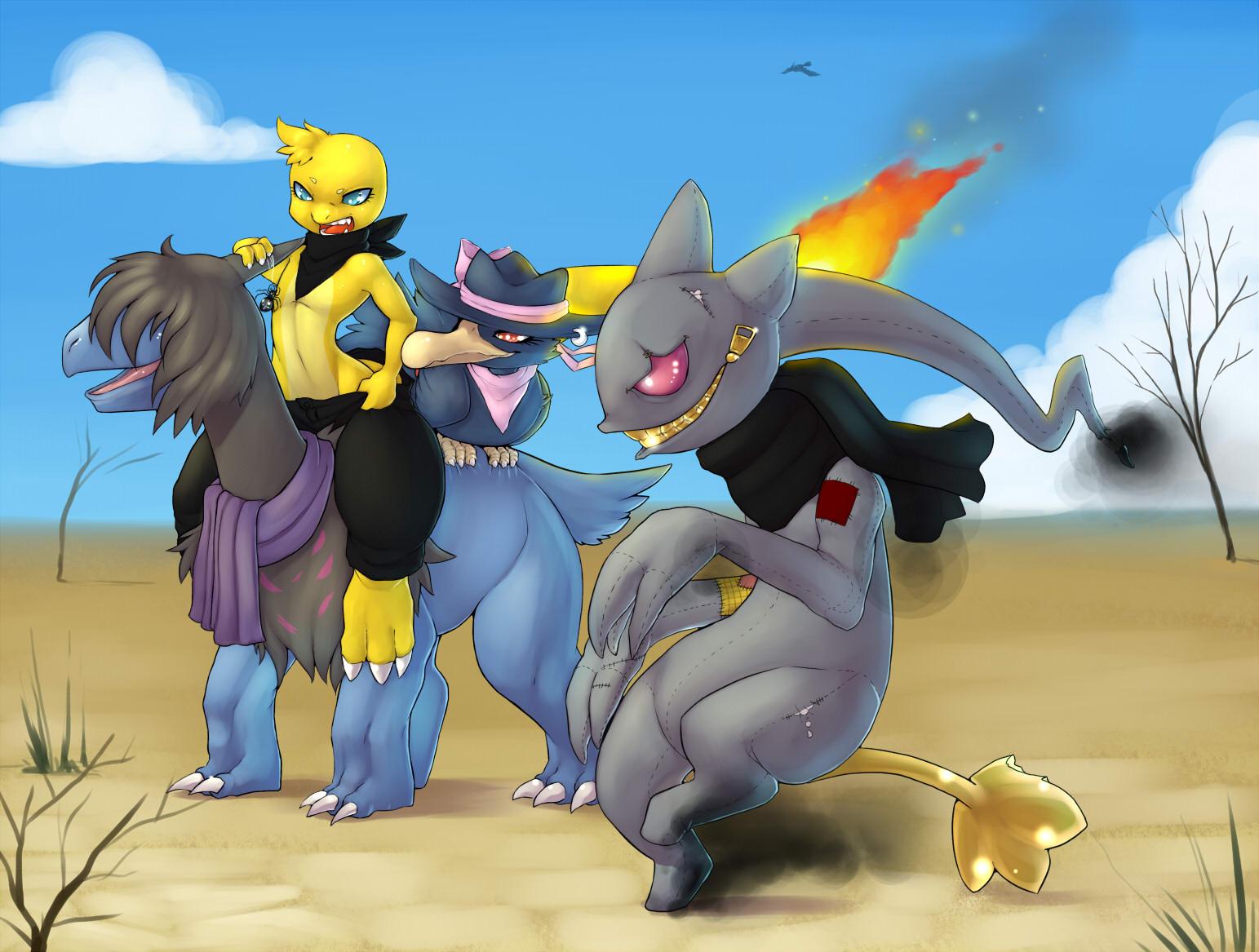 Pokémon-Zeichnung: team anima
