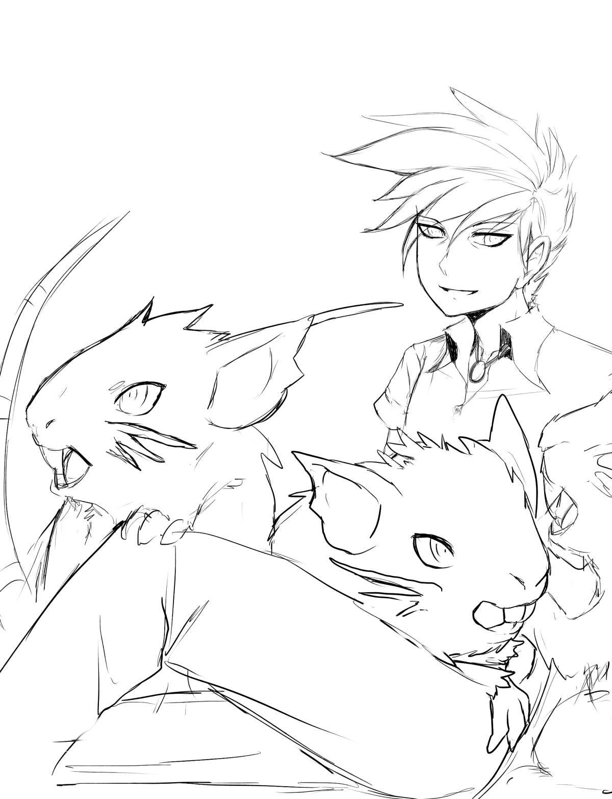 Pokémon-Zeichnung: rattikarl