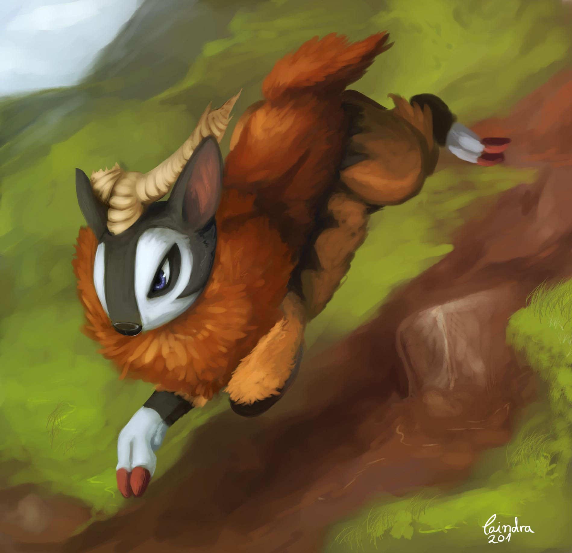Pokémon-Zeichnung: ziegending
