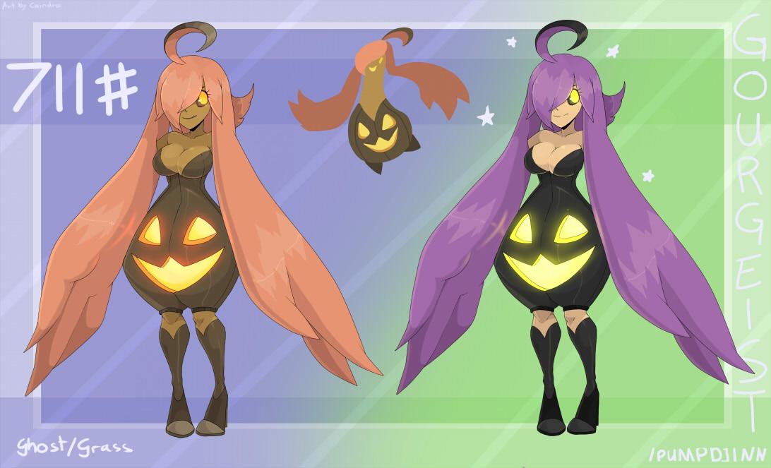 Pokémon-Zeichnung: Pumpdjinn Gijinka