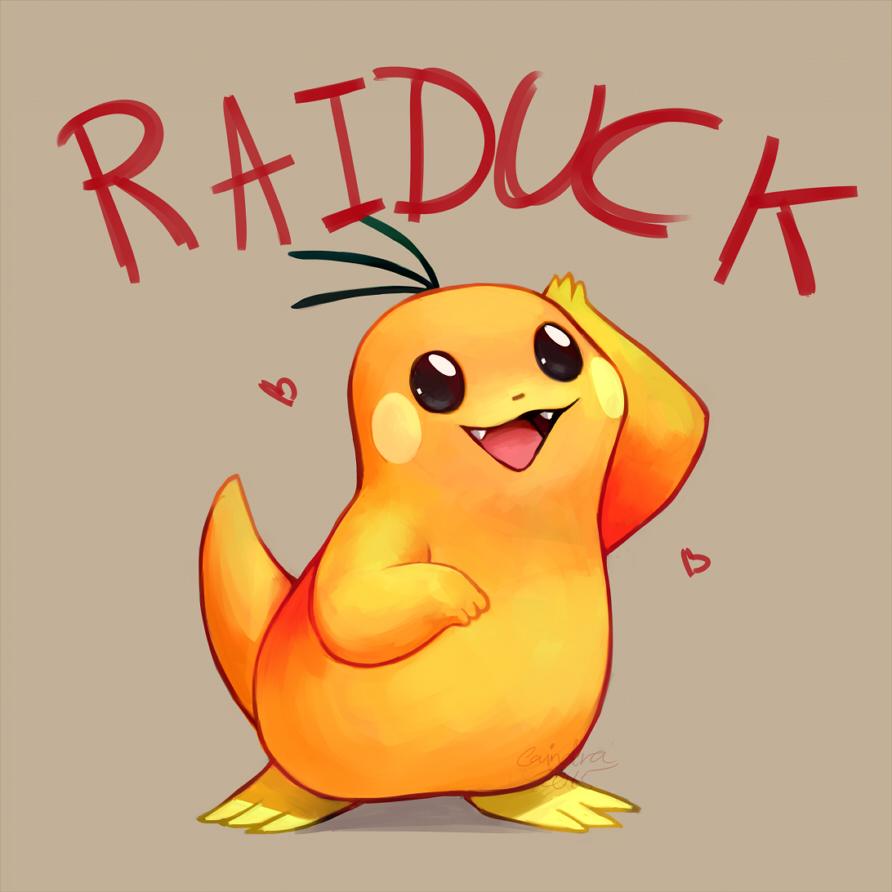 Pokémon-Zeichnung: Pokefusion: Raiduck