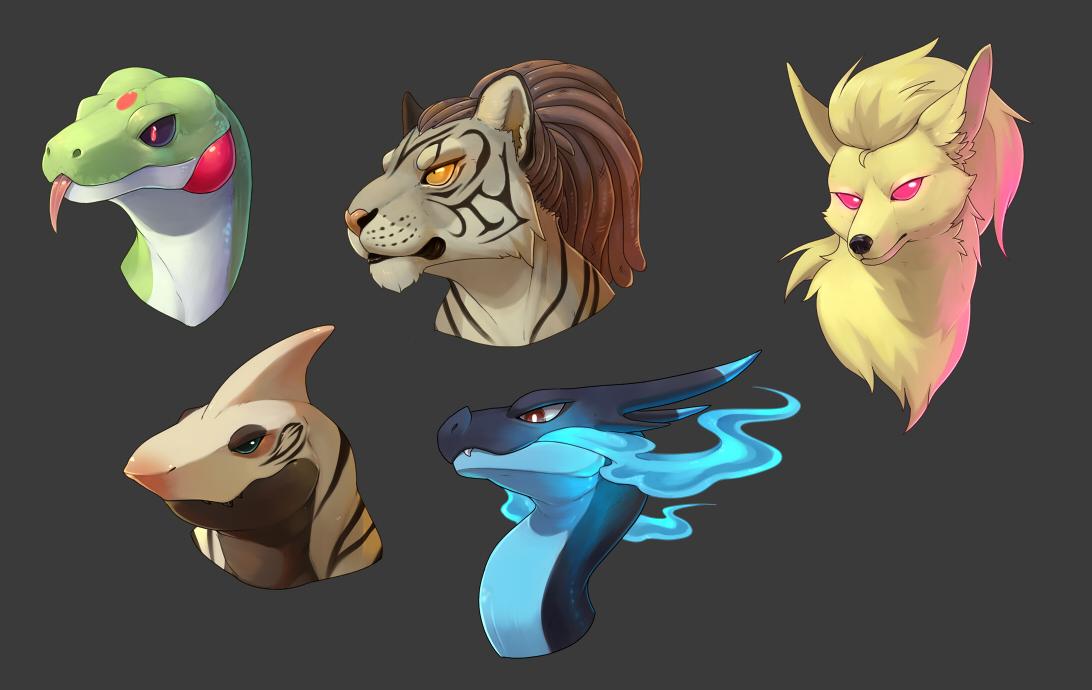 Pokémon-Zeichnung: shading übung